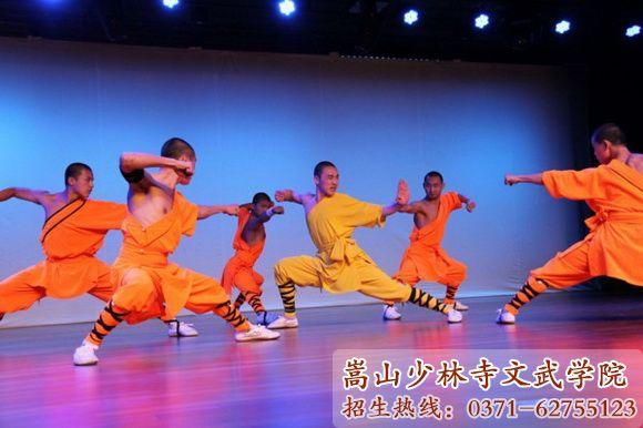 少林寺武校学员舞台表演