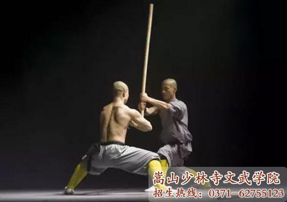 河南少林寺武校学员表演