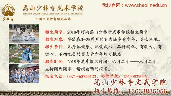 少林文武学校的招生条件及电话