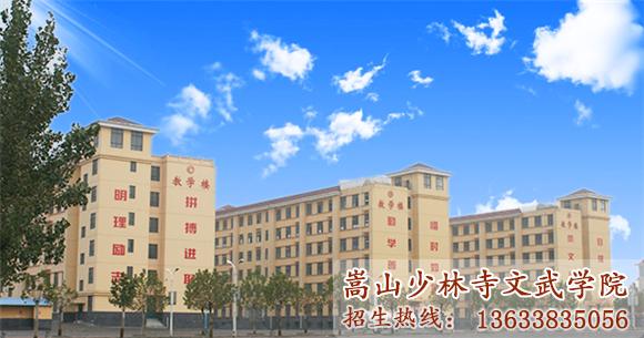 少林寺武术学校的教学楼